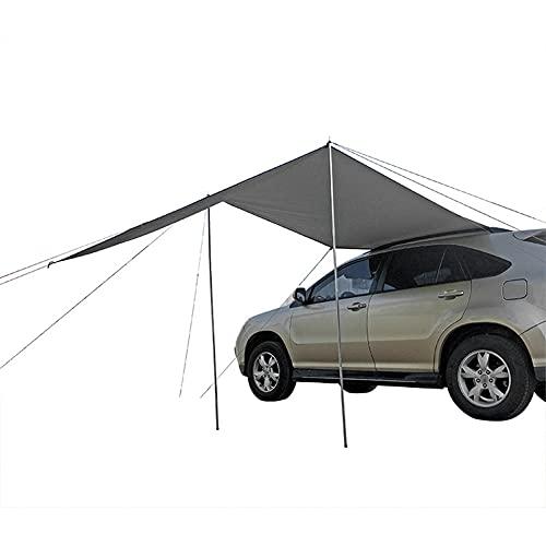 Blueshyhall Toldo para coche para tienda de campaña, toldo para coche, todoterreno, camping, exterior, gris, 300 x 200 cm