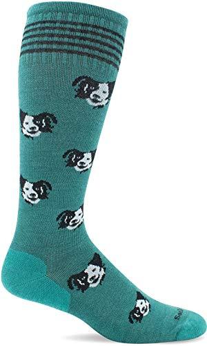 Sockwell Women's Canine Cuddle Moderate Graduated Compression Sock, Jade - M/L