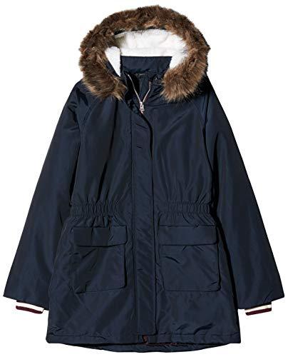 NAME IT Mädchen NKFMOLEA Parka Jacket NOOS Jacke, Blau (Dark Sapphire Dark Sapphire), (Herstellergröße: 158)