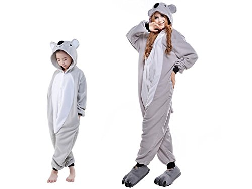 ABYED® Kostüm Jumpsuit Onesie Tier Fasching Karneval Halloween kostüm Erwachsene Unisex Cosplay Schlafanzug- Größe L-für Höhe 164-174CM, Koala