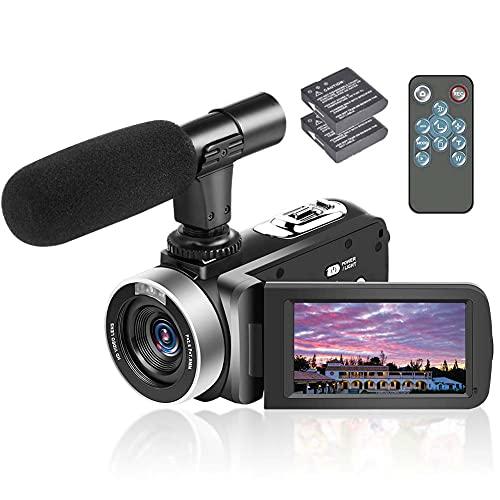 Camcorder Video Camera FHD 1080P 24MP 18X Powerful Digital Zoom Anti-shake...