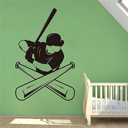 Yaonuli honkbalspeler logo sport vinyl muur bloemen design indoor Home accessoires voor huis muur