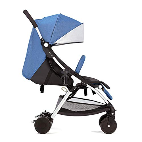 Great Features Of PLDDY Standard 4 Wheel Stroller Reclining One Hand Fold with Shock Absorbers Compa...