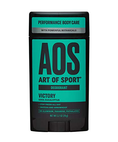 Art of Sport Men's Deodorant (1-Pack) - Victory Scent - Aluminum Free Deodorant for Men with Natural Botanicals Matcha and Arrowroot - High Performance Formula for Athletes - Goes on Clear - 2.7oz