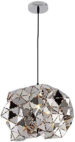 Hanglamp, Postmodern Creativiteit Chroom Finish Kroonluchter, Holle Verstelbare Restaurant Polyhedrale Vorm Hanglamp