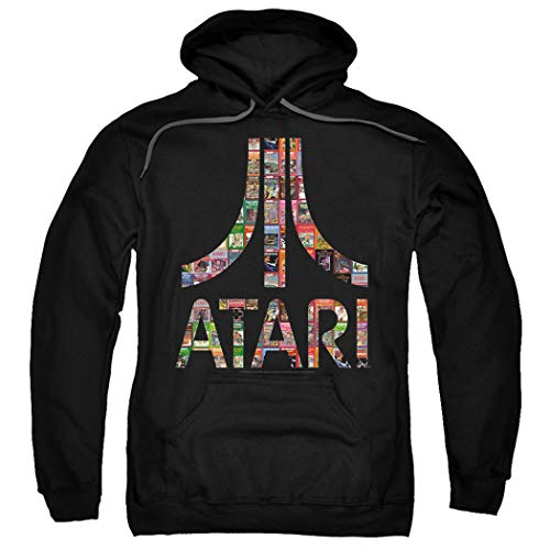 Adults Atari Logo Hoodie and Free Stickers. 3 Colors, S to 3XL