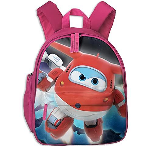 Mochila infantil para niños y niñas Super Wings Cool Students Bookbag para niños