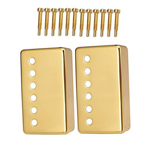 B Baosity 2 x Pickup Funda protectora Humbucker Protector Retención de la Guitarra con Tornillos - Dorado