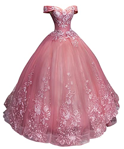 Prom Dress Ball Gown Quinceanera Dress Lace Formal Evening Gown...