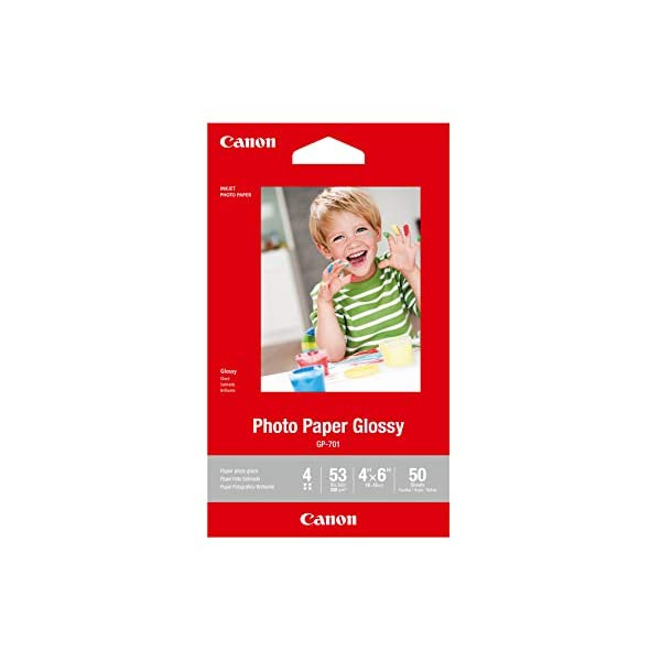 CanonInk Glossy Photo Paper 4″x 6″ 50 Sheets (1433C002)