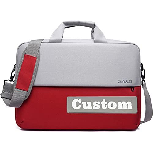 Nome personalizzato Migliore Computer Uomini Cartella Tela Slim Bag Laptop 14 Pollice Business, Rosso, Taglia unica,