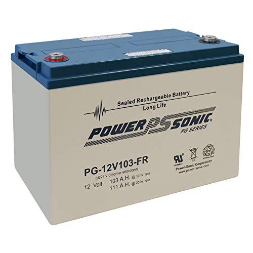 Power Sonic PG12V103-FR 12V 103AH Forklift Pallet Jack Mobile Home RV Battery