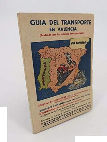 Guía Del Transporte En Valencia. Bayarri Campaña 1953 1954. Bayarri