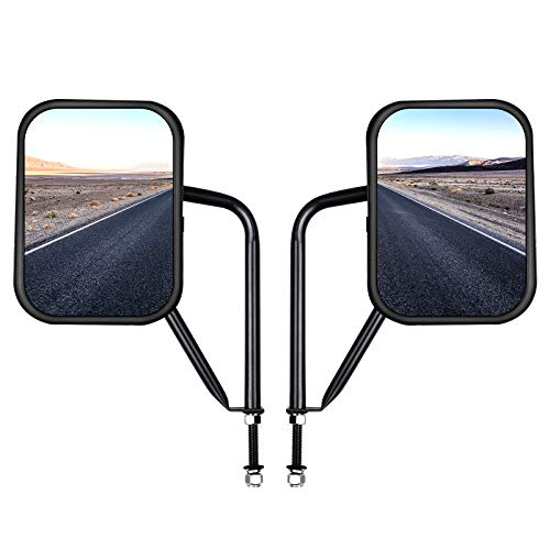 HSZNKJYX Jeep mirror Doors Off Side View Mirrors Fits For Jeep Wrangler JK JL TJ YJ CJ Shake-proof,Easy Quicker Install Doors Hinge and Durable for Safe Driving.