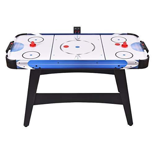 "GYMAX 54"" Air Hockey Table, Electric Air Powered Hockey with 2 Pucks 2 Pushers Electronic Scorer,for Kids and Adults"