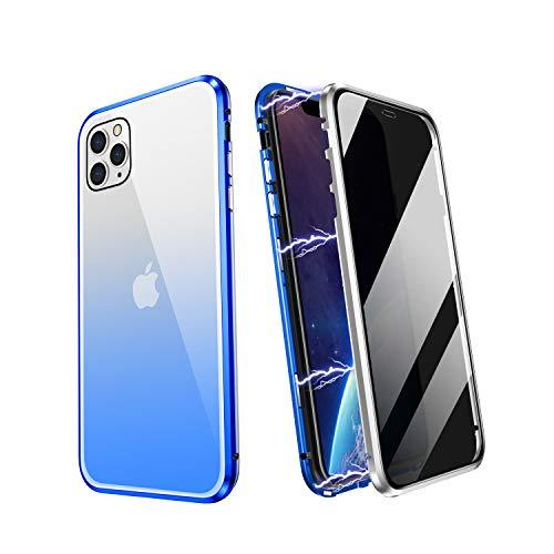 YUNQE Funda para iPhone 11 Pro Max, funda protectora magnética de cristal...