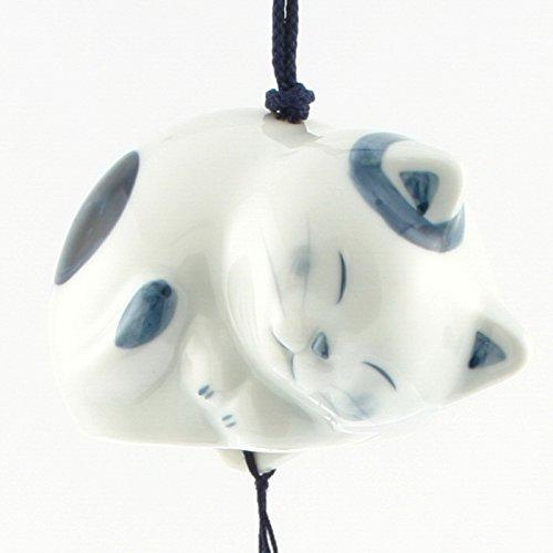 Kotobuki Japanischer Keramik Windspiel: Schlafende Katze # 485–230