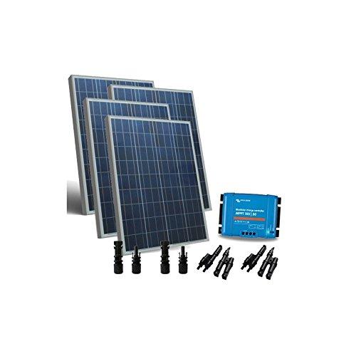 PuntoEnergia Italia - Kit Solar 400W 12/24V Base2 Placa Fotovoltaico Controlador de carga 30A MPPT MC4 - KSB2-400-1224
