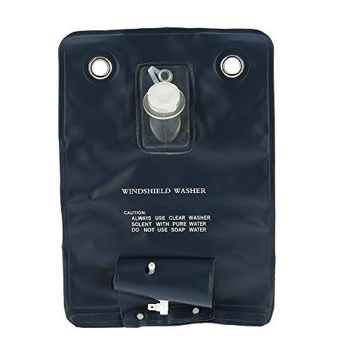 KKmoon Bomba Lavadora Kit Bolsa para Lavar Parabrisas Universal 12V con Interruptor Jet para Coche Clásico