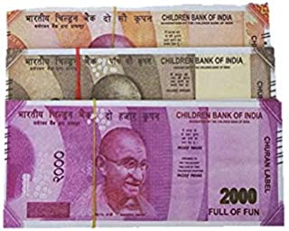 AK Store Dummy Indian Currency Notes 60 Units, Each 20 Notes of 200, 500, 2000 Rupee Notes for Children Playing and School...