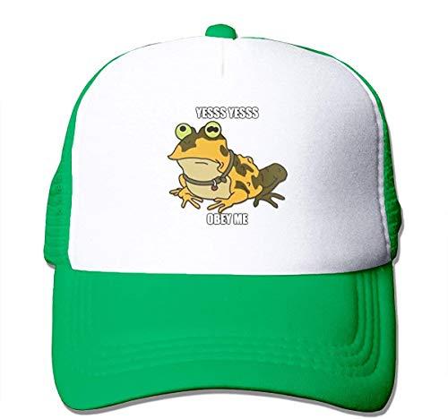 BIGFANSS Unisex Baseball Caps Frog Obey Hypnotoad Snapback Adjustable Golf Hat,Green,One Size