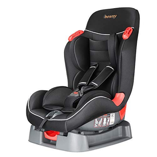 Besery Autokindersitz Autositz Kindersitz Kinderautositz Babysitz 9-25 kg 1+2 nach ECE R44/04 - Schwarz & Rot