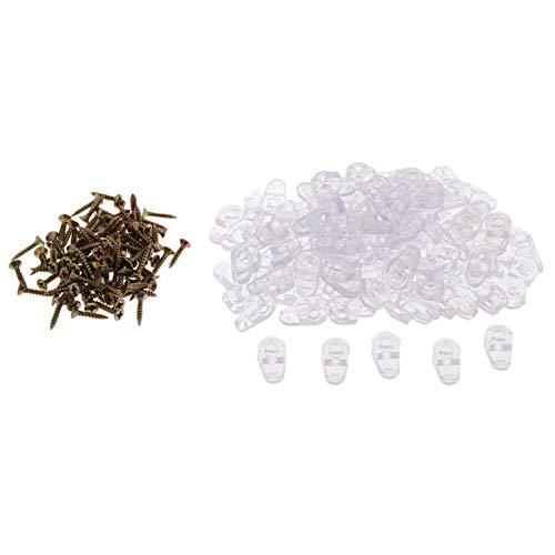 YAYANG Angle Bracket Retenedor de Vidrio de plástico 100pcs Clips DE Fijo DE Espejo Espejo -M25 Durable in Use. (Color : Transparent)