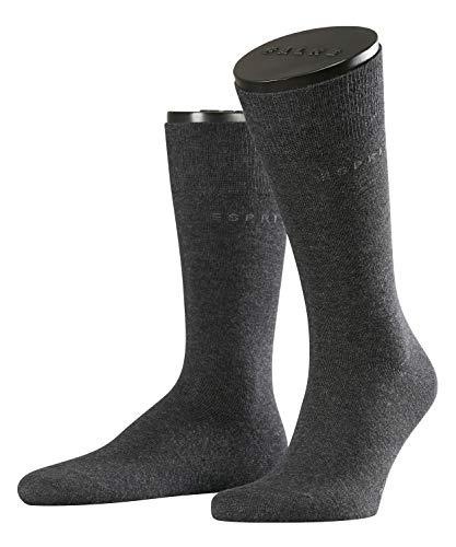 ESPRIT Herren Socken Basic Uni 2-Pack, Baumwolle, 2er Pack, Grau (Anthracite Melange 3080), 39-42 (UK 5.5-8 Ι US 6.5-9)