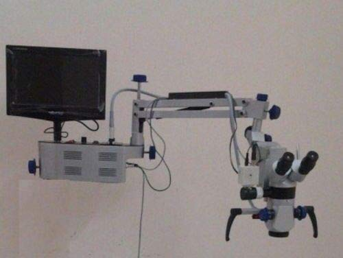 Wall Mount 3 Step Dental Microscope with Camera & Monitor