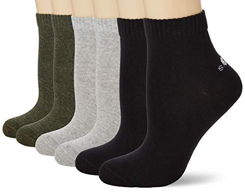 s.Oliver Socks Unisex S21001000 Socken, 3er Pack, Mehrfarbig (dark olive melange), 43/46