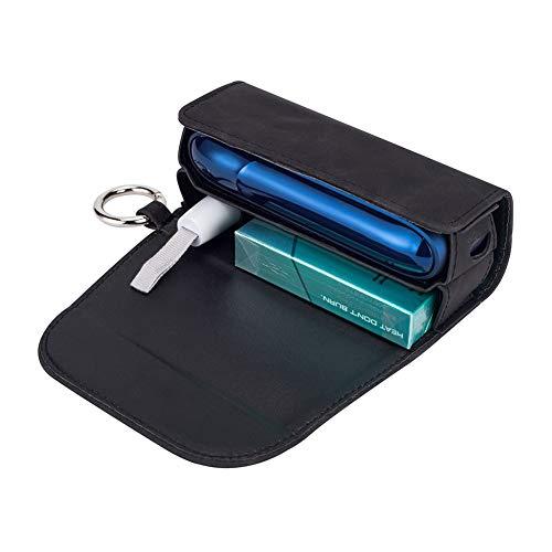DrafTor E Zigarette Tasche, PU Leder Zigarettenetui fr 3.0 mit mit Clip oder Schnalle (nur Geldbrse) (Schwarz)