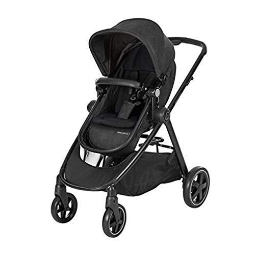 Bébé Confort Zelia Baby-Kinderwagen, Stadtwagen und leicht, umwandelbar in eine Babytragetasche, von Geburt bis 3,5 Jahre (0-15 kg), Nomad Black