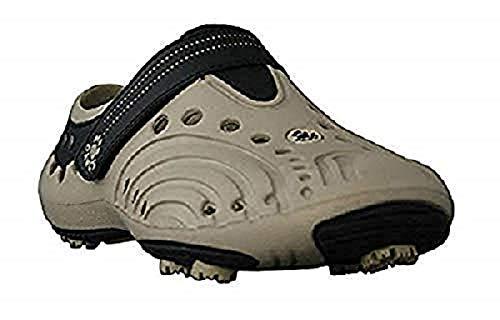Dawgs golfschoenen heren maat 43 - beige - zacht en duurzaam Eva-materiaal - uitneembare schuimrubberen binnenzool - gevormde voetgewelf - dikke gevoerde hiel.