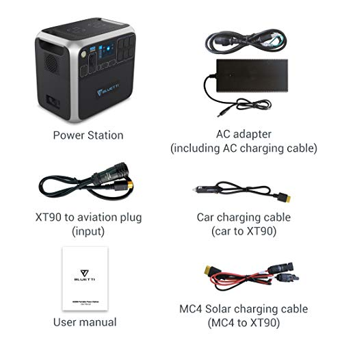 Product Image 1: BLUETTI Portable Power Station AC200P 2000W 2000Wh Solar Generator 700W PV Max. Backup Battery Pack with 6 2000W AC Outlet(4800W Surge) for RV, Home Emergency, Outdoor Camping, Etc