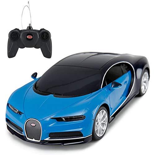 Bugatti Veyron Chiron RC Car 1:24 Scale Remote Control Toy Car, Bugatti Chiron R/C Model Vehicle for Kids - Blue