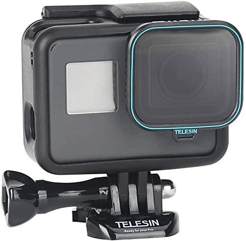 TELESIN CPL Fliter 1 confezione da 1 filtro per obiettivo CPL per fotocamera CPL, protezione dell'obiettivo, filtri polarizzatori circolari con copriobiettivo per GoPro Hero 2018, Hero 6, Hero 5