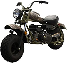 MASSIMO Warrior200 SuperSize 196CC Camo Mini Moto Trail Bike MX Street for Kids and Adults, Wide Tires Motorcycle Powersport