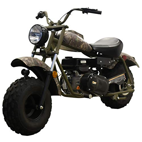 M MASSIMO MOTOR Warrior200 196CC Engine Super Size Mini Moto Trail Bike MX Street for Kids and Adults Wide Tires Motorcycle Powersport CARB Approved (Camo)
