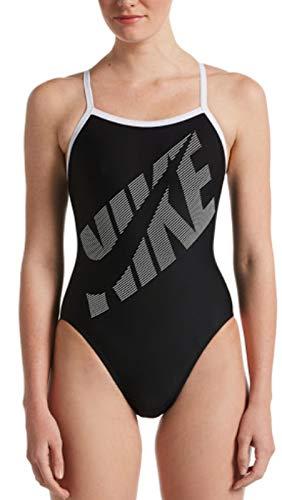 Nike Damen Racerback One Piece Bikini, Schwarz, 38