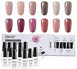 Elite99 Esmalte Semipermanente UV LED 12pcs Kit Uñas de Gel Pintauñas Esmalte de Uñas Soakoff Manicura Color Nude - Gift set 001