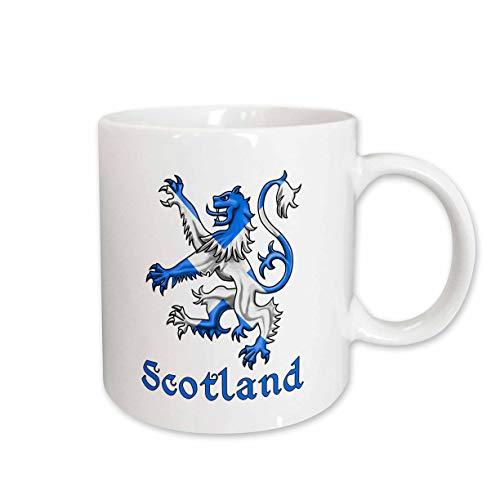 3dRose MacDonald Creative Studios – Escocia – león escocés en los colores de la bandera de Escocia, recuerdo escocés. - Tazas
