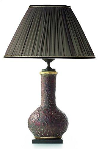 Le Porcellane Céramique Lampes de table FioriRilievo en Brun foncé | Fait à la main Fabriqué en Italie | lampe de table
