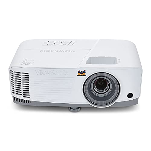 ViewSonic 3800 Lumens SVGA High Brightness Projector for Home and Office with HDMI Vertical Keystone (PA503S), SVGA, Single, White/gray