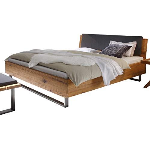 Hasena Oak Wild Wildeiche Bett Füße Indus Kopfteil Sion 160x200