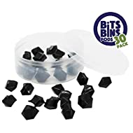 "30 BitsBins PODS, Round Storage Containers for Game Pieces, Measures 2.5"" X 0.875"", Perfect way to store your small pieces for Board Games"
