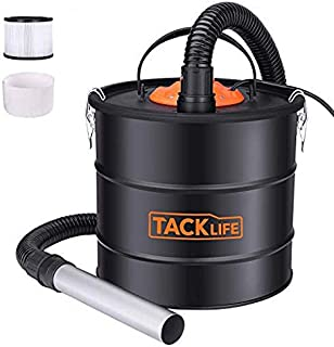 Tacklife Ash Vacuum 5 Gallon 800W Fireplace Vacuum with Blow fonction, 1.2M Metal Hose, 5M Power Cable, Ideal for Fireplaces, Stoves, Log Burners, Grills, BBQ's, Fire Pits[Energy Class A]