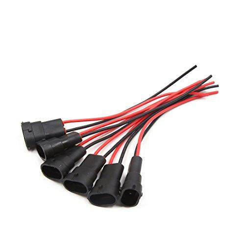 sourcing map 6Pc H11 Lampe Brume Faisceau Câble Extension Connecteur Femelle pour Voiture