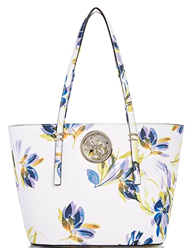 Guess Women's Open Road Small Tote - White Floral