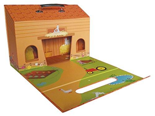 Bieco Spielweltkoffer Motiv-Koffer Bauernhof, ca. 32x23x10,5cm | Kids Globe | Bauernhof Kleinkind | Spielzeug...