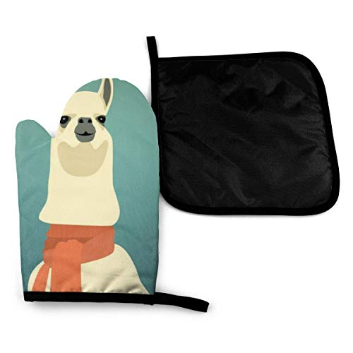 Llama Wallpaper Related Keywords Amp Suggestions Llama Oven Mitts and Potholders BBQ Gloves-Oven...